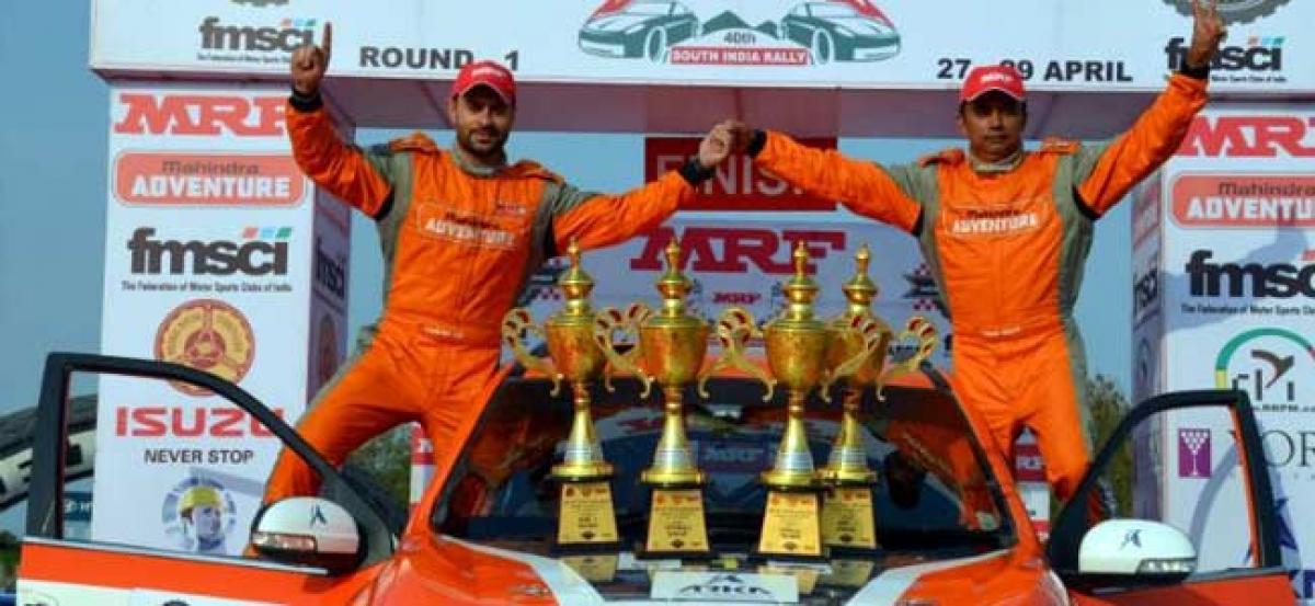 INRC 2018 Round 1: Gaurav Gill, Amittrajit Ghosh Secure 1-2 Finish For Team Mahindra Adventure