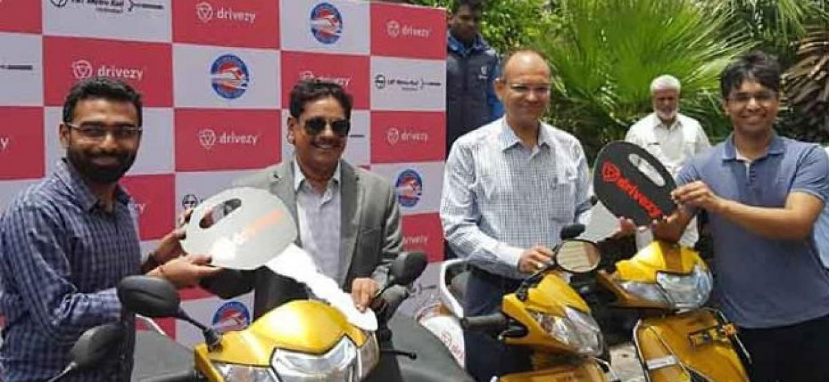 Bike sharing service launched for Hyderabad Metro Rail passengers