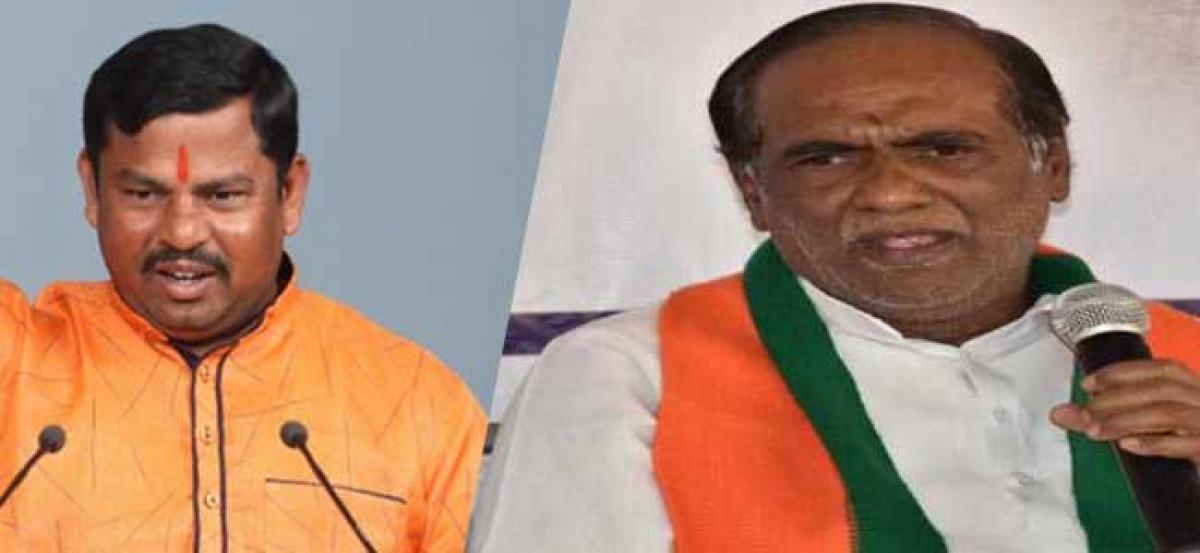 Telangana assembly elections 2018: BJP leaders K Lakshman, Raja Singh files nomination