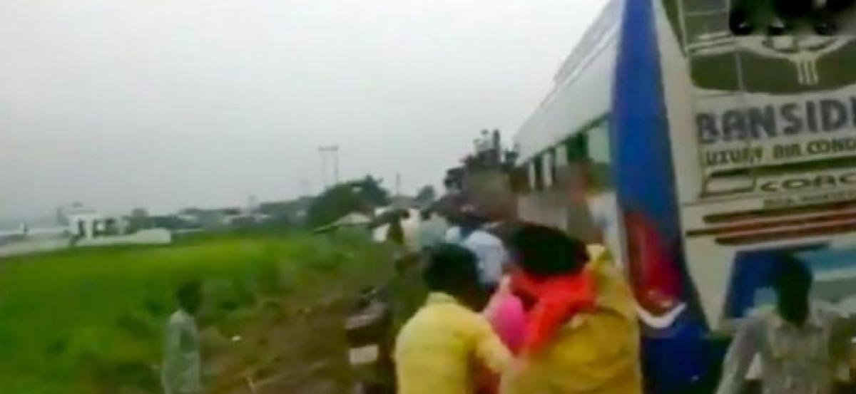 Video: Unable to attend PM Modis rally in Bengal, BJP workers attack police