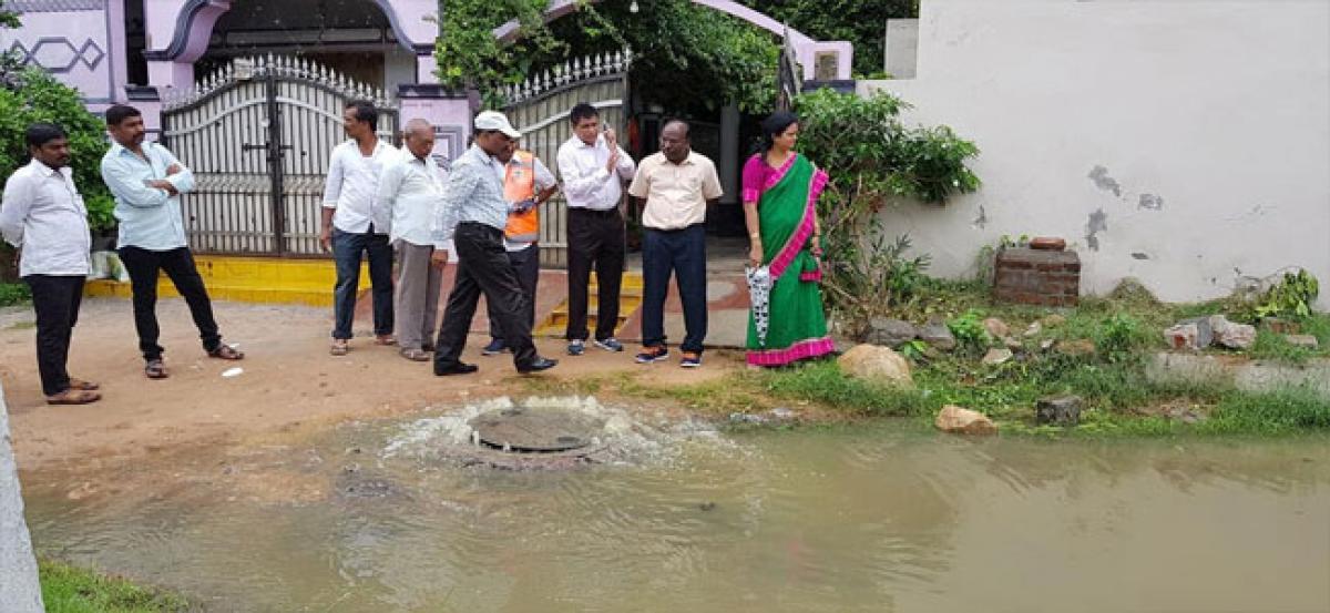 Lakshmi ensures stoppage of drain overflow