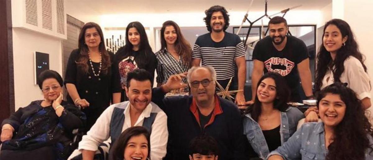 Boney Kapoor celebrates 63rd birthday with family