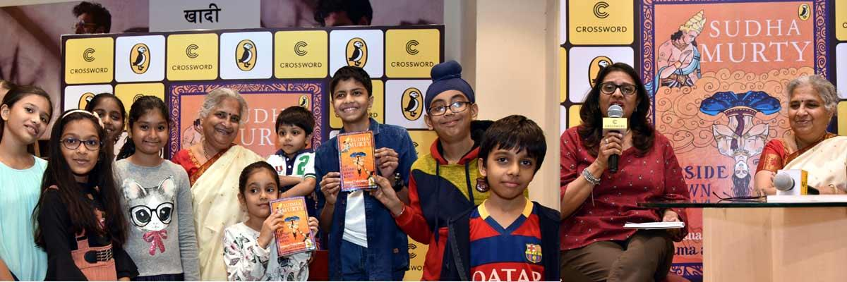 "Crossword Bookstores and Puffin India launch Sudha Murty's ""The Upside Down King"" in Mumbai"