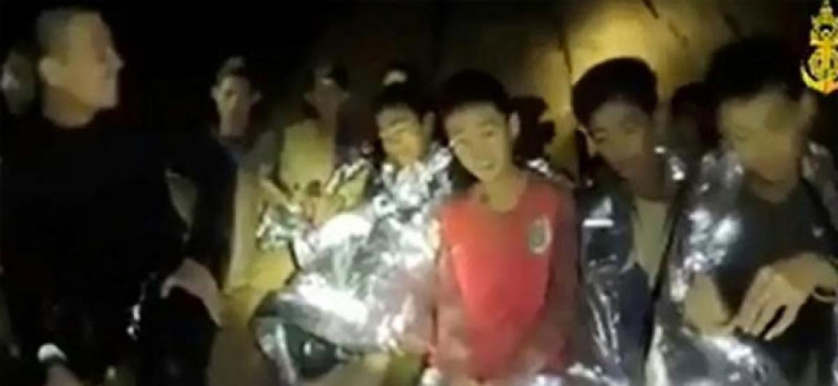 Watch: Fresh navy video shows Thai cave boys in good health