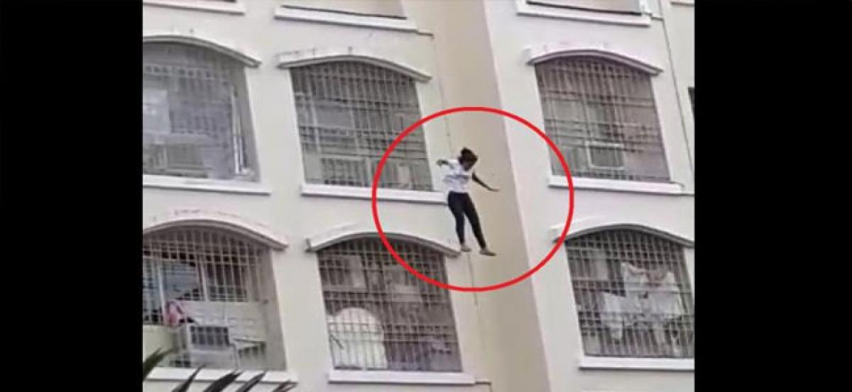 14-yr-old Mumbai girl jumps off eighth floor, onlookers record video