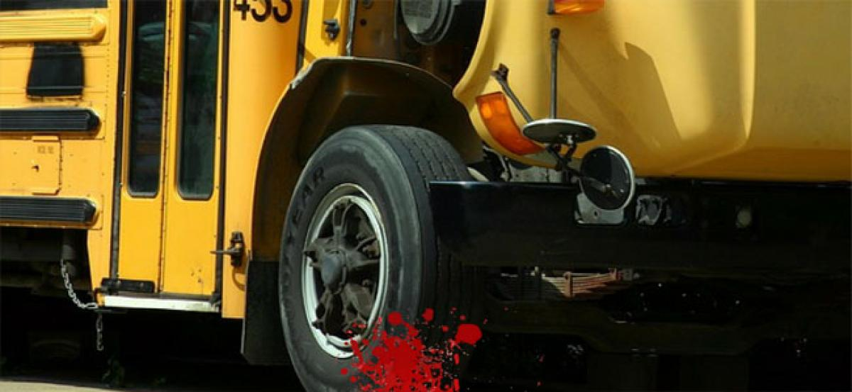 Toddler dies in freak accident, run over by school bus in Hyderabad