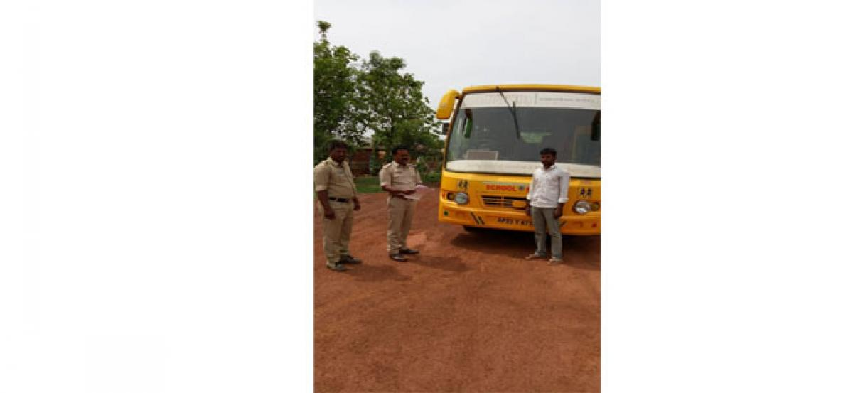 10 school buses seized