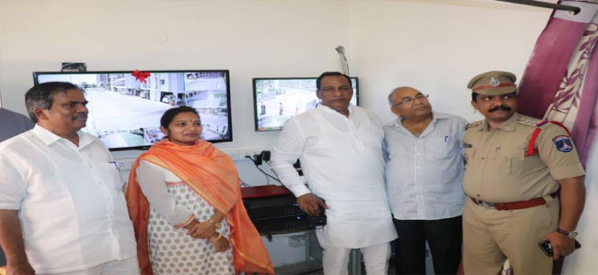 MP inaugurates CCTV at Rainbow Vista apartments