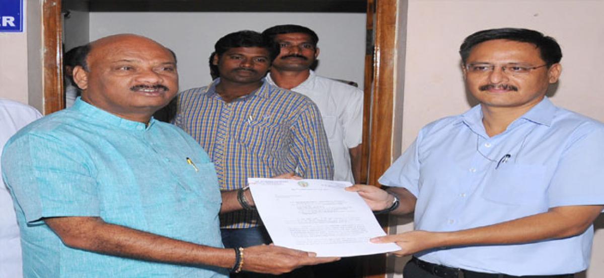 Land grabbers raised bank loans pledging govt lands, says Ayyanna
