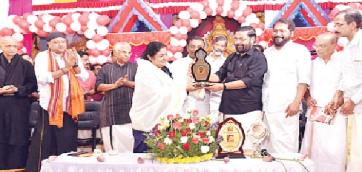 Sabarimala awards a female visitor
