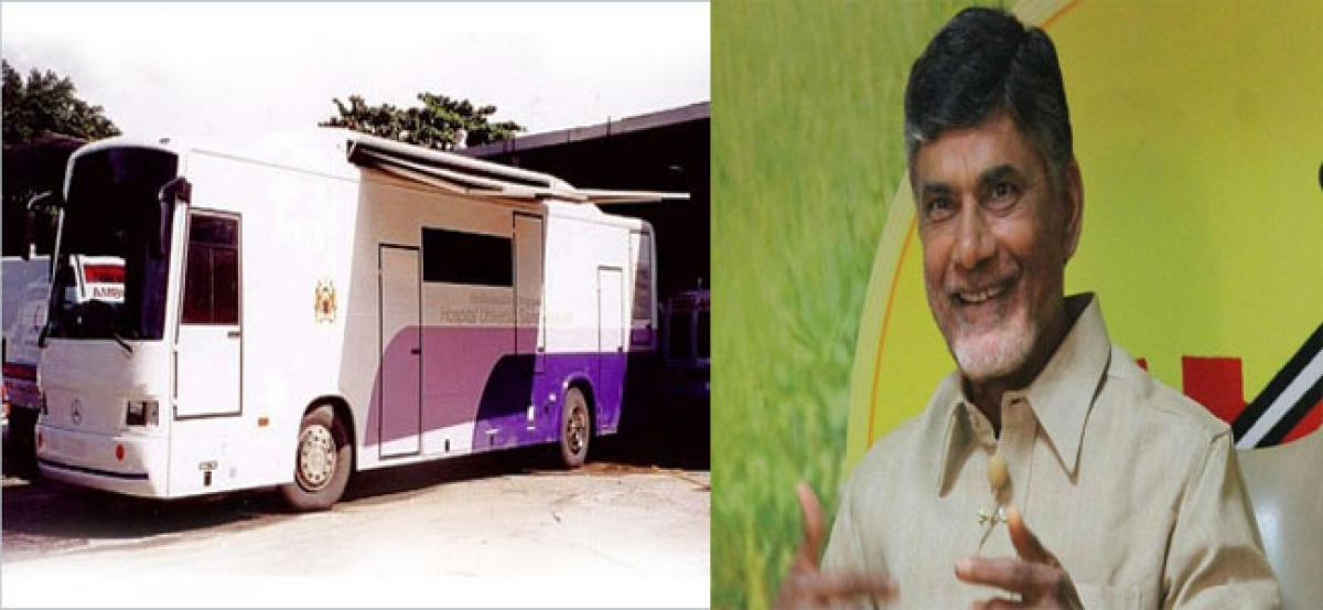 Mobile dental service launched by Chandrababu Naidu