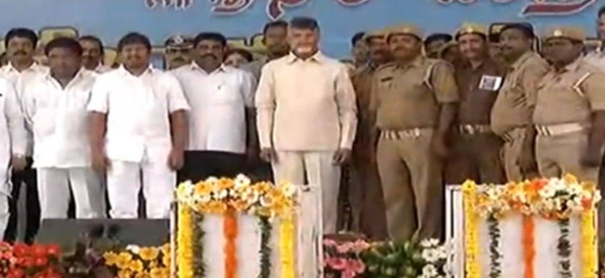Home guards felicitate CM for enhancing the honorarium