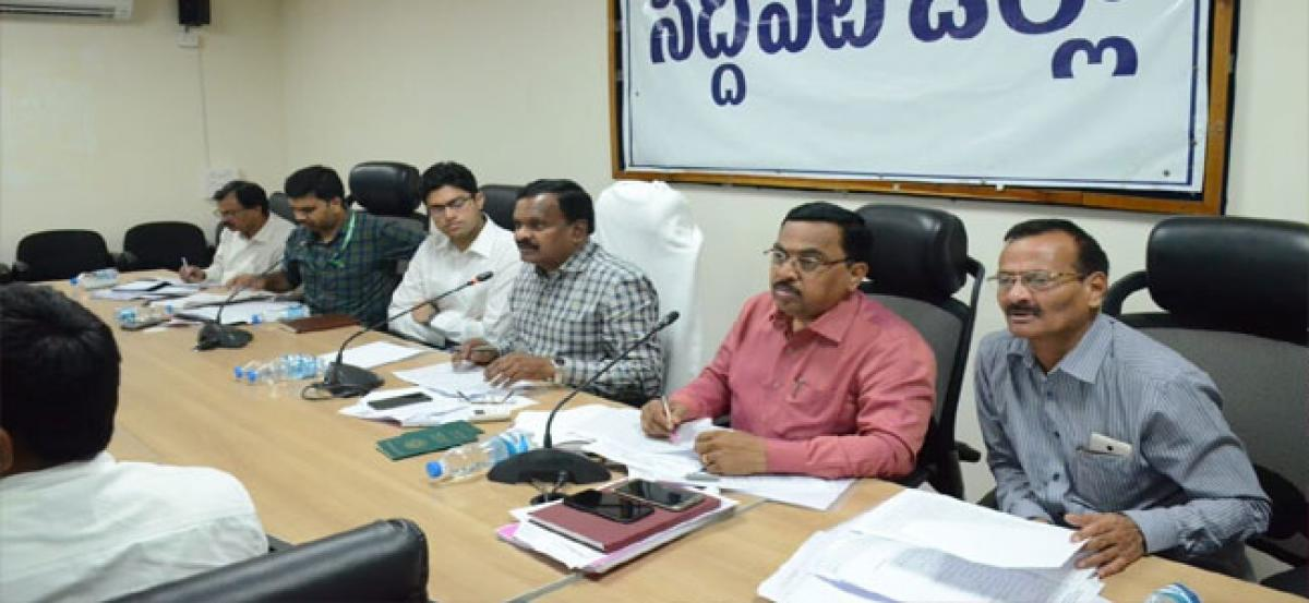 Collector holds review meeting on LRUP project