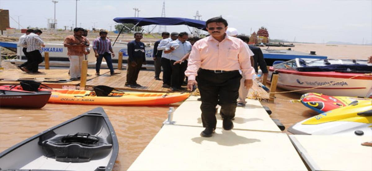 Water sports to be developed at Pavitra Sangamam