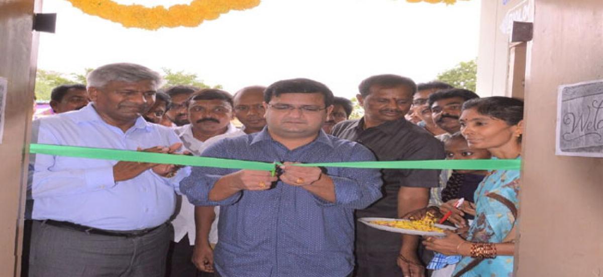 Digital classrooms at Govt schools in Prakasam dist
