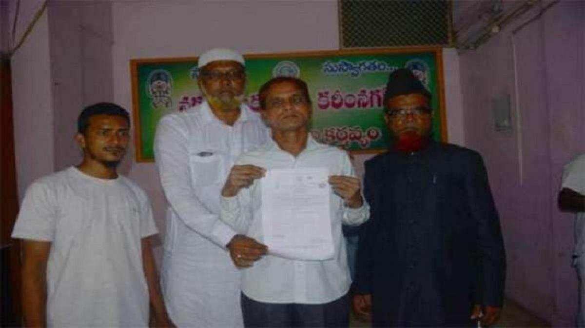 Death certificate issued to a living person in Karimnagar