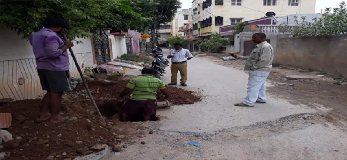 Residents irked as road dug up sans intimation
