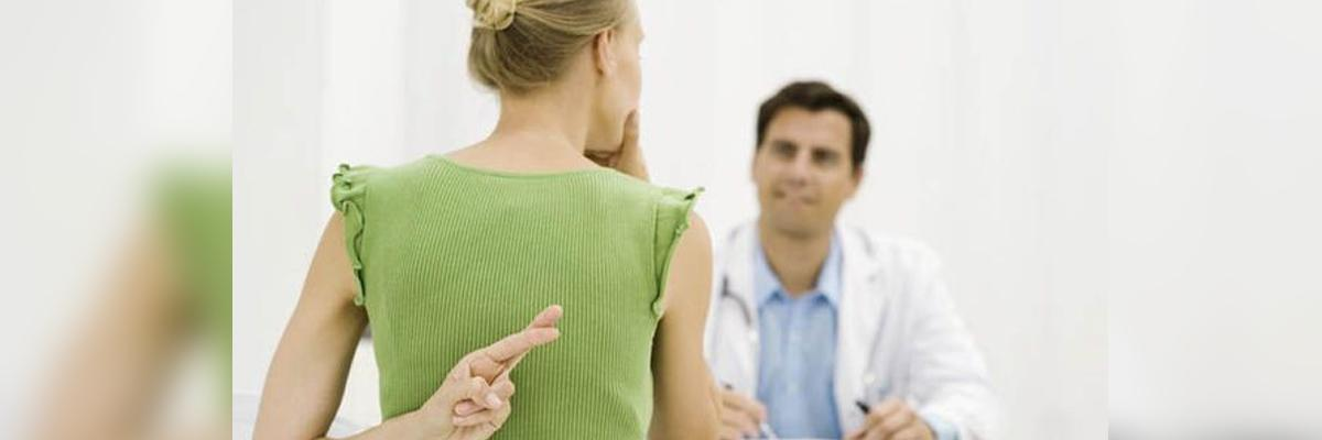 Heres why lying to doctors is common