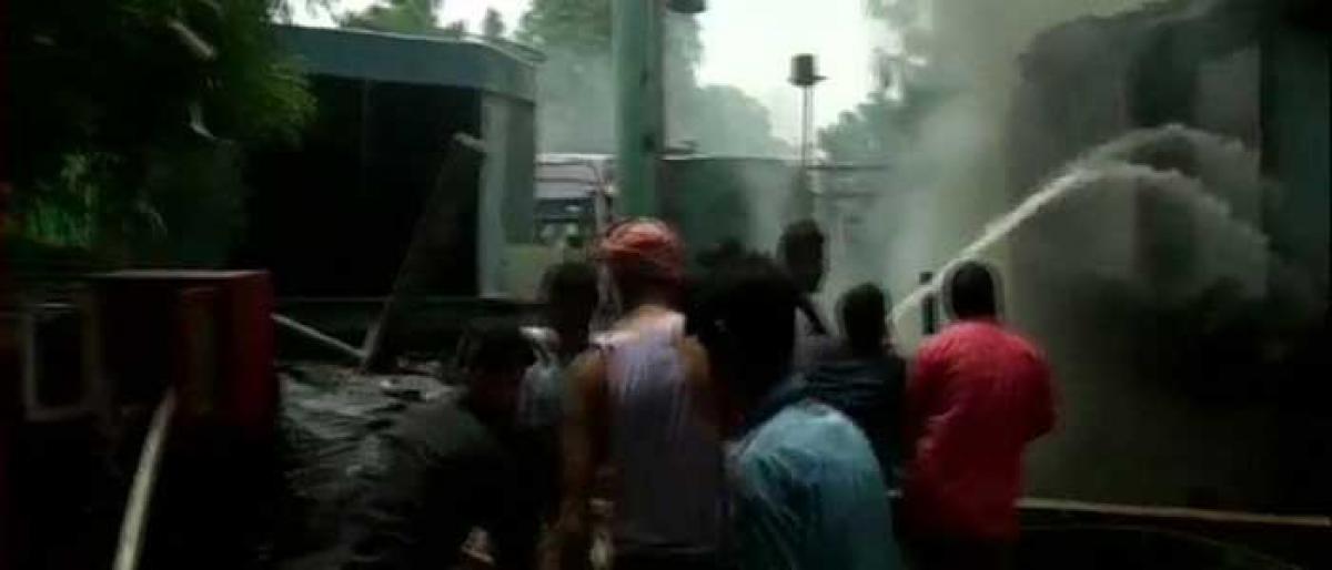 Fire at New Delhi Doordarshan Bhawan