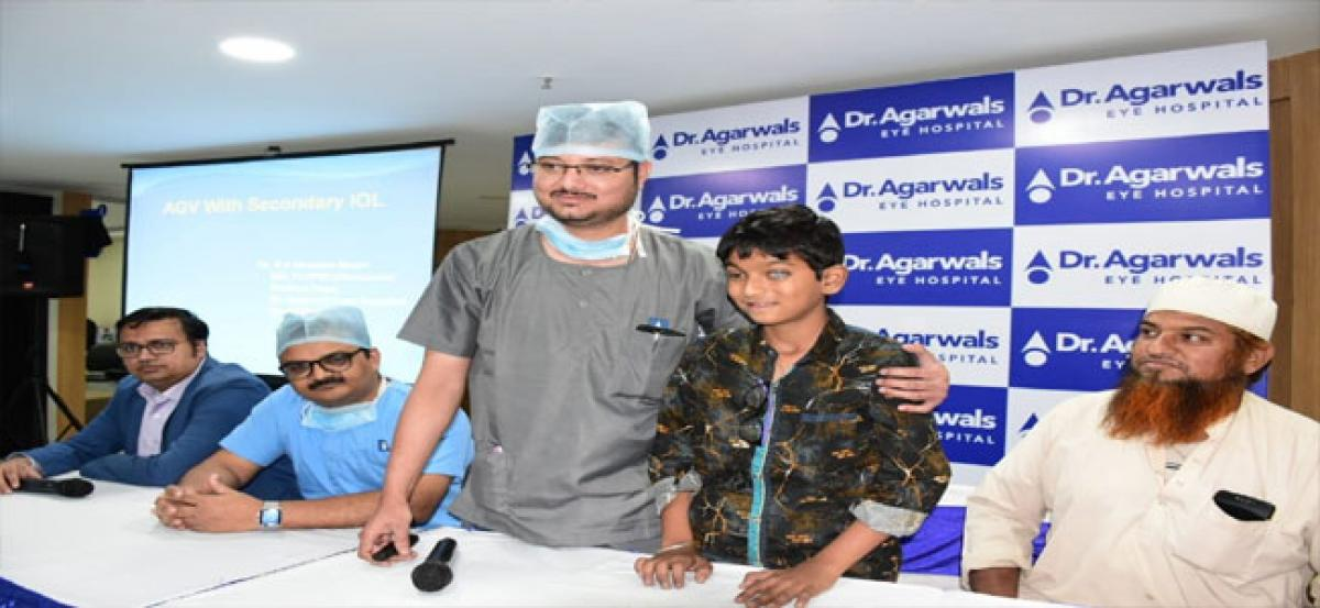 Dr Agarwal's Eye Hospital treats complicated child's blindness