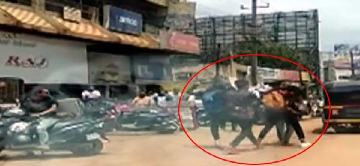 3 girls thrash themselves for a boyfriend in Hubli
