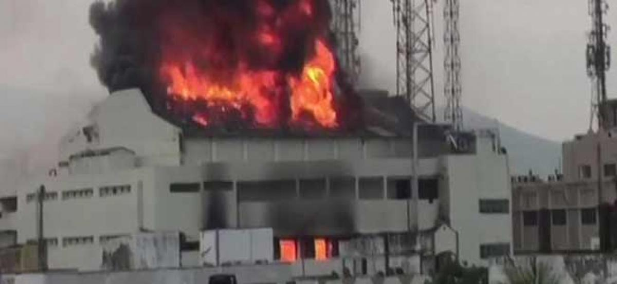 Visakhapatnam: Fire breaks out in Sri Kanya Cinema Hall