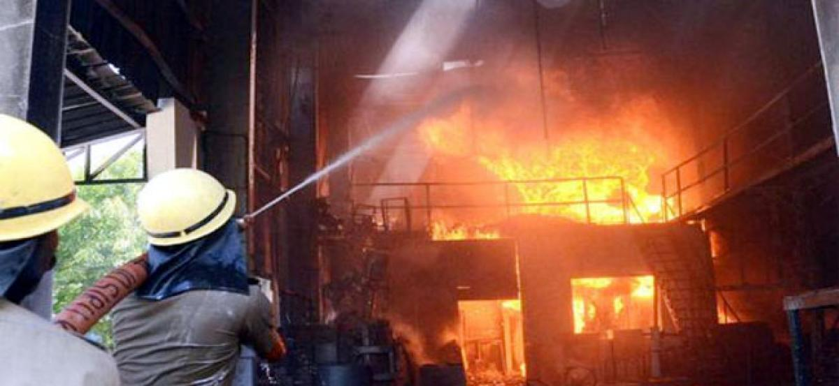 Fire at snacks factory in Rajasthan