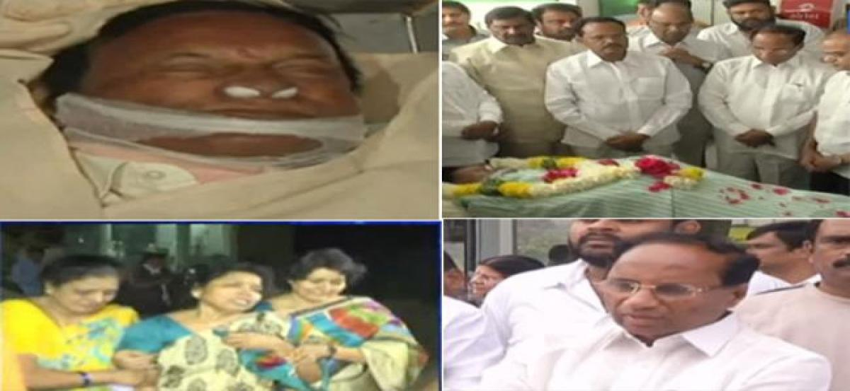 Senior TDP leader Gali Muddu Krishnama Naidu breathes his last