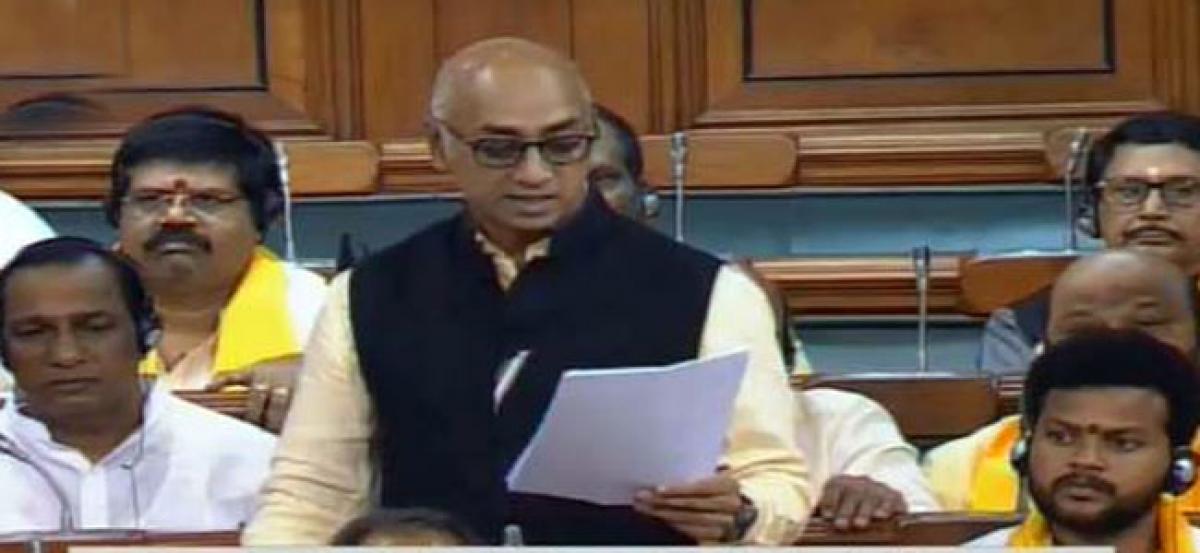 Galla Jayadev initiates discussion on no trust-motion