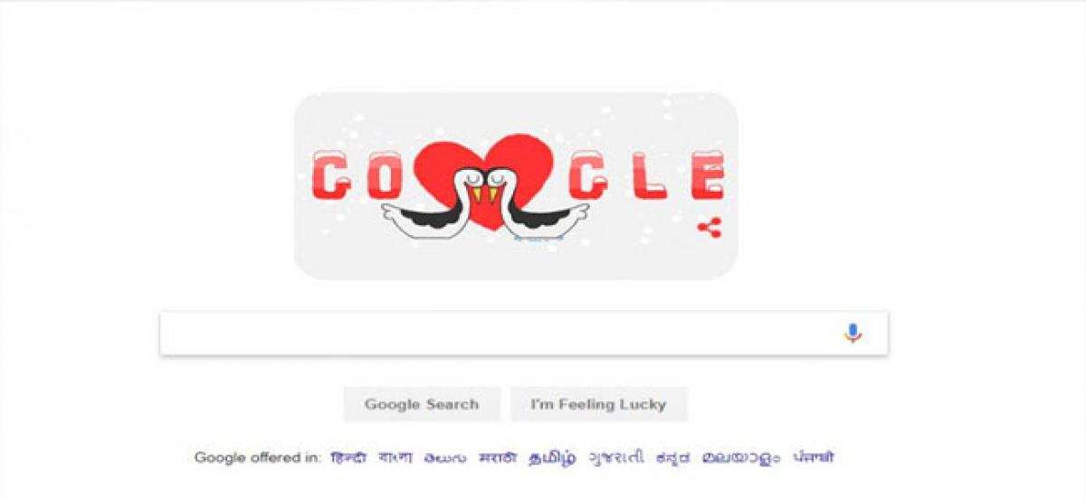 Google doodles with Valentine