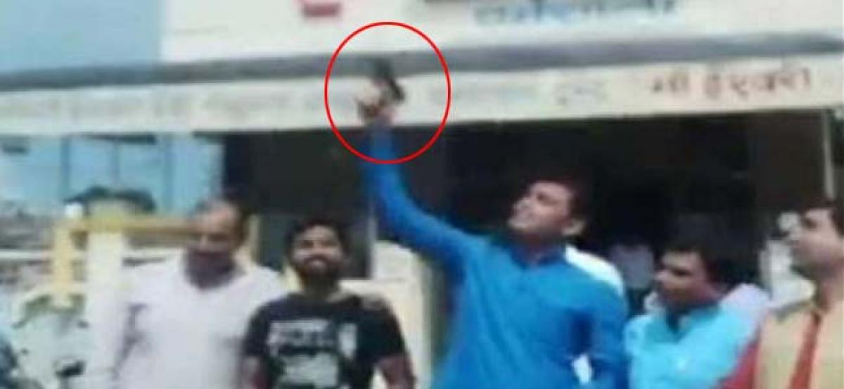 BJP youth wing leaders fire celebratory shots in air, complaint filed