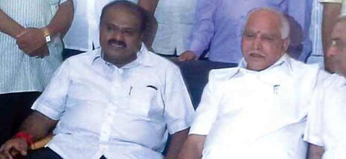 Kumaraswamy says state in our hand; it's not permanent, reminds Yeddyurappa