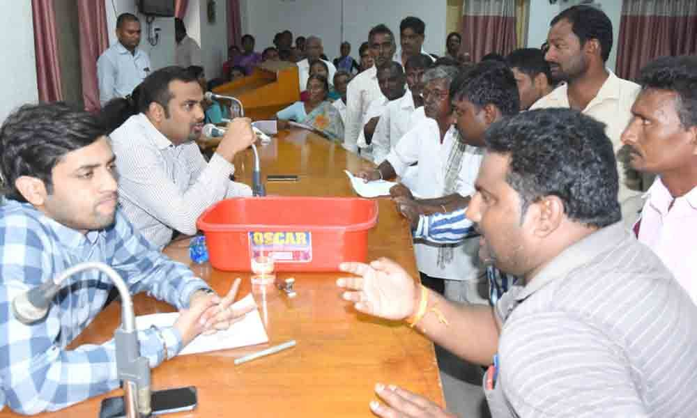 Many turn up for Grievance Day programme in Khammam