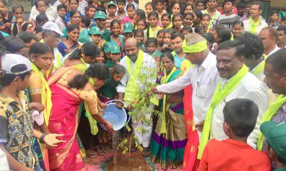 Ramannapet : Students told to play active role in Haritha Haram