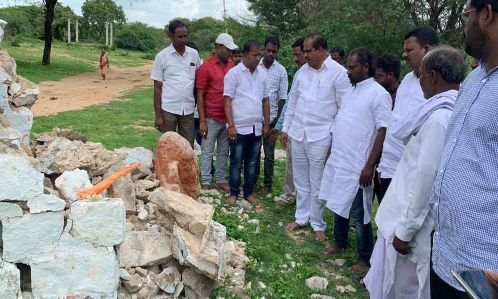 MLA Mahareddy Bhupal Reddy gives 60 L for burial ground