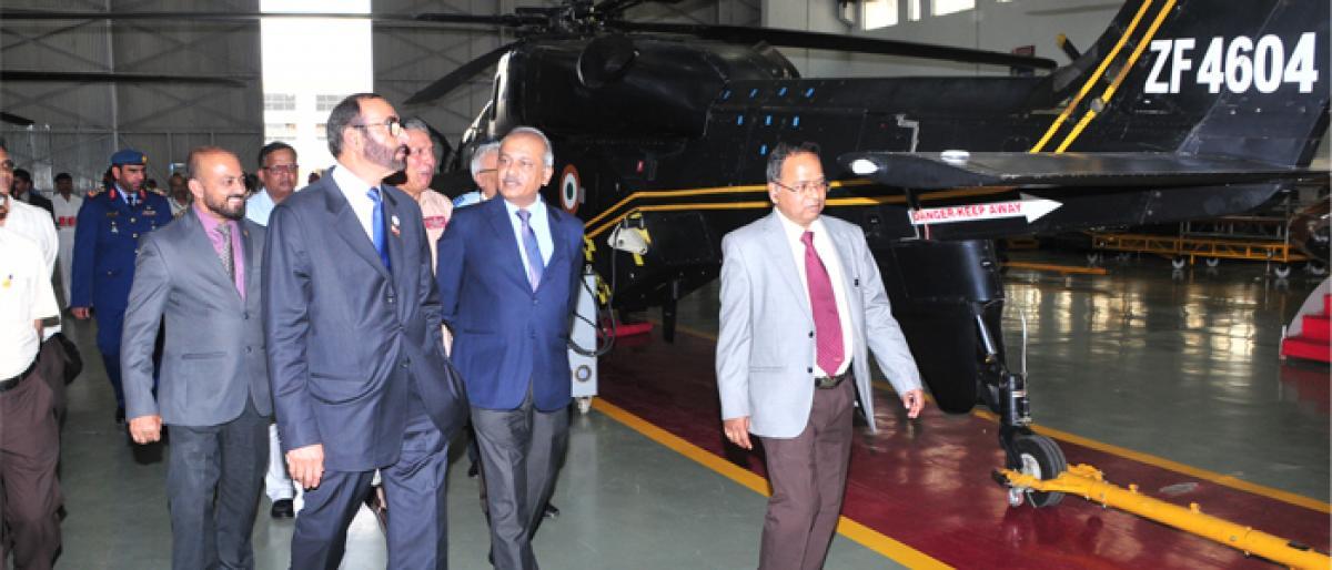UAE Defence Minister visits HAL facility