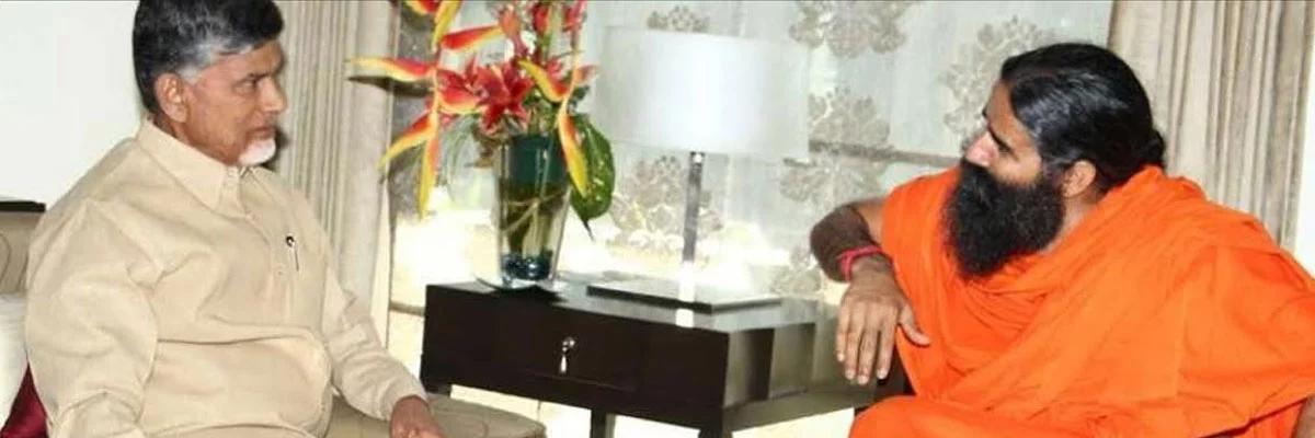 Yoga guru Patanjali meets CM Naidu