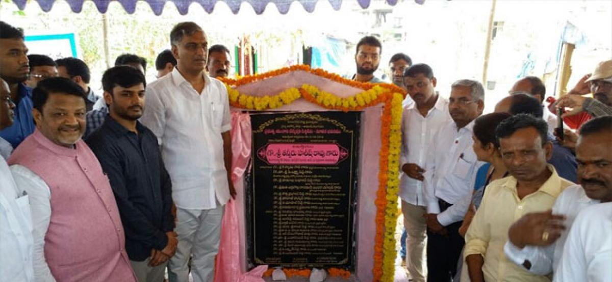 Minister lays foundation stone for unani dispensary building