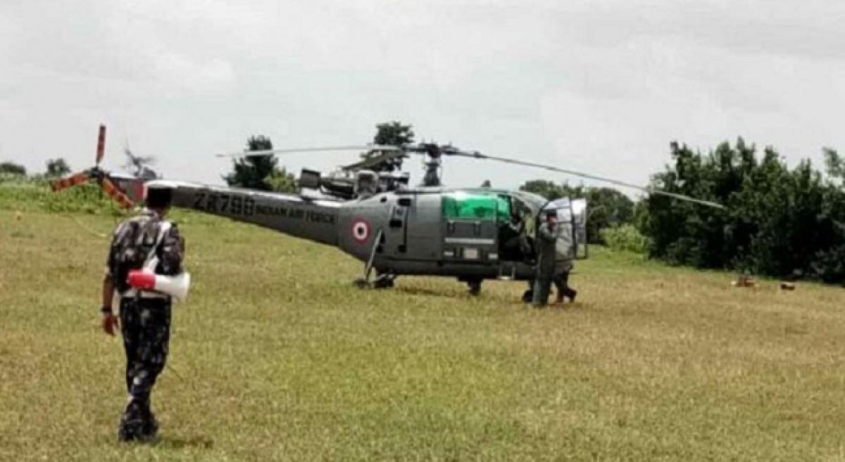 IAFs chetak helicopter makes emergency landing near Siddipet
