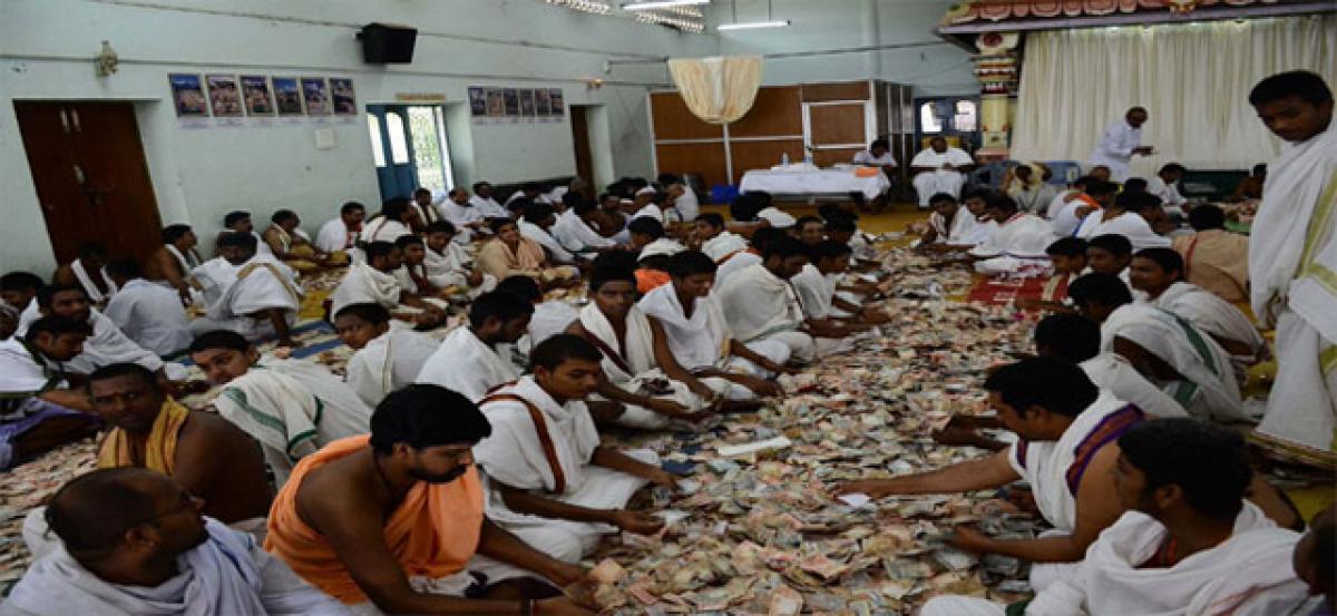 Srisailam hundi collections over 2.9 crore