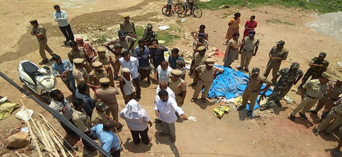 Tension prevails in Kurma Nagar as officials pull down illegal structures
