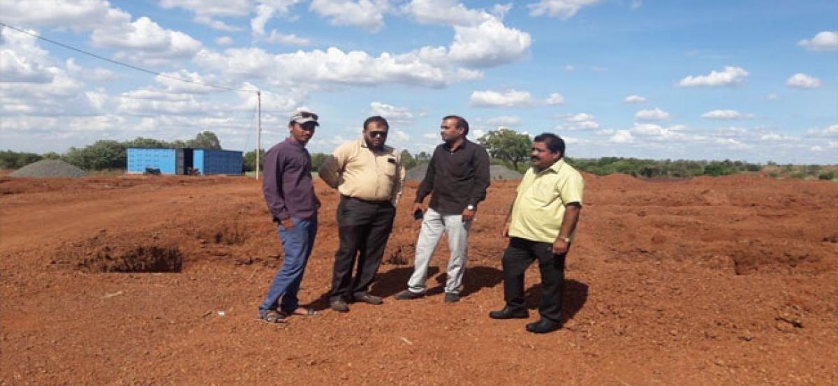 Jaithram inspects 2BHK construction works