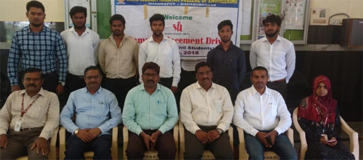 6 Jayaprakash Narayana College of Engineering students bag jobs in Sri Cement