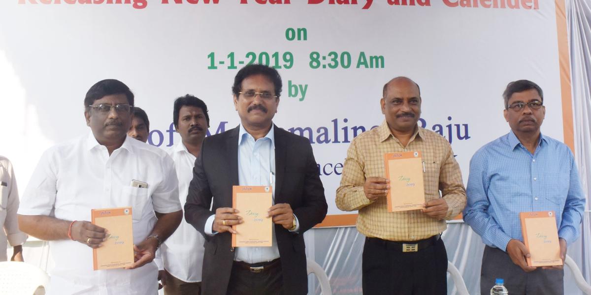 JNTU calendar, diary released