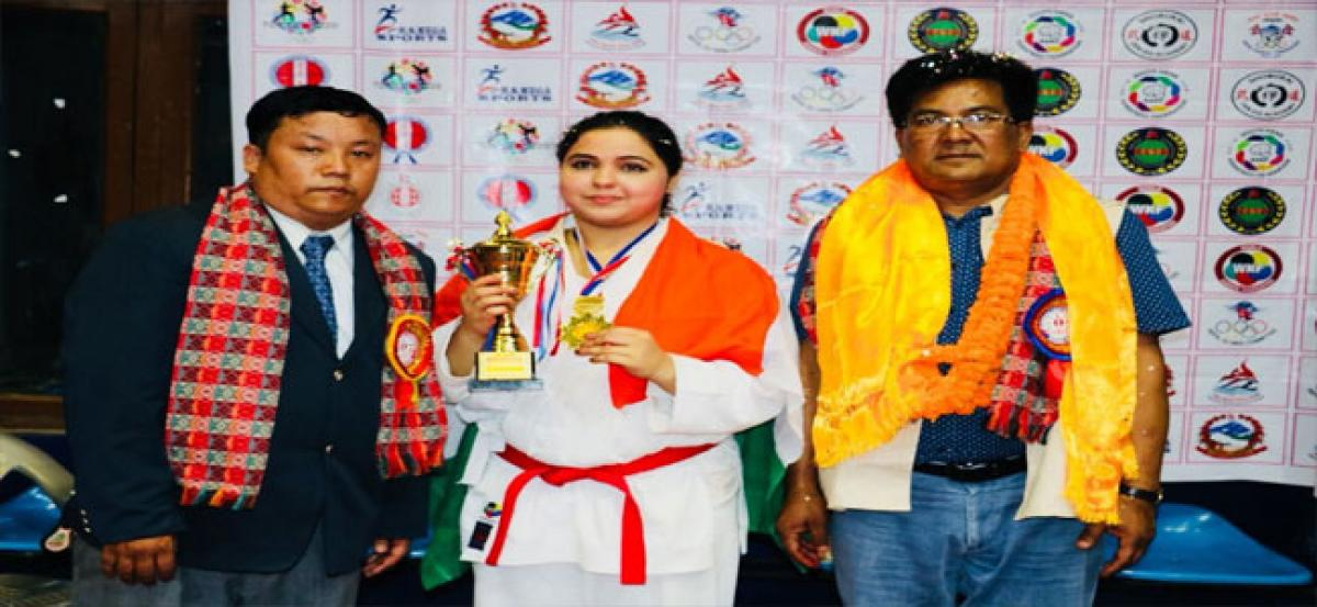 City girl wins Gold in international karate championship