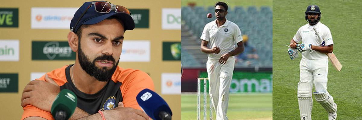 Aus vs India 2nd Test: Virat Kohli undaunted by Ashwin, Rohit Sharma injury blows