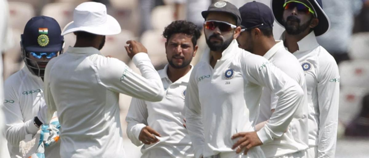 2nd Test: Indian bowlers leave Windies struggling
