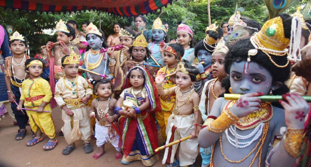 Krishnashtami celebrated with fervour