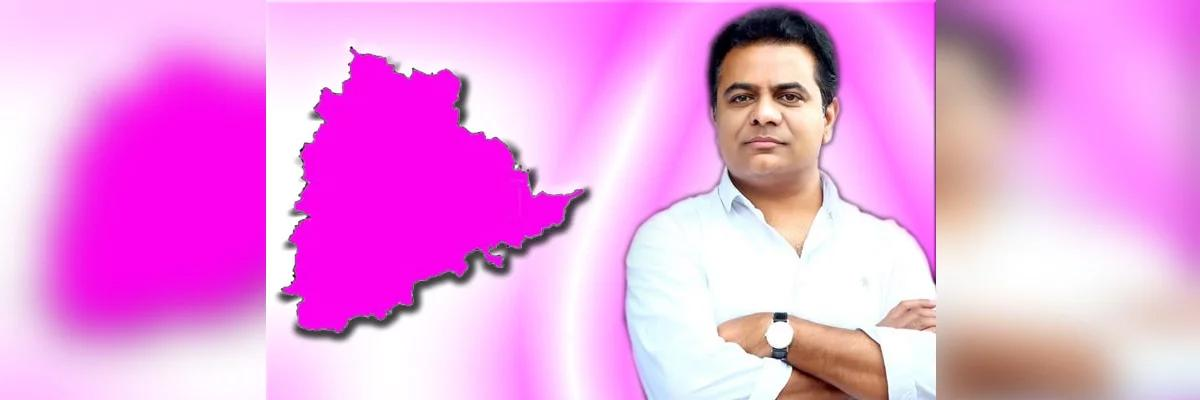 KTR takes oath as TRS working President