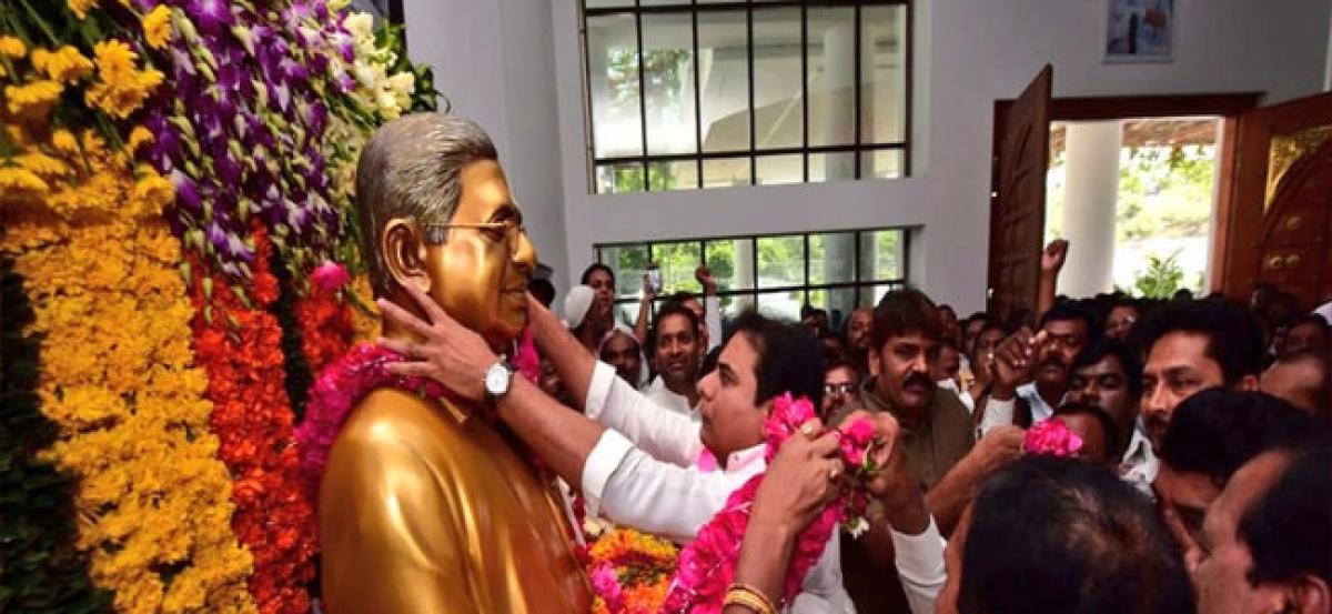 KTR: Prof Jayashankar was the backbone of Telangana movement
